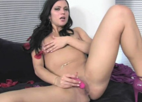 Mandy More is playing with her vibrator