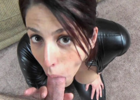 Lavender gets laid in her vinyl catsuit