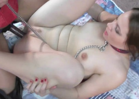 Lavender fucks Lina with a strap-on